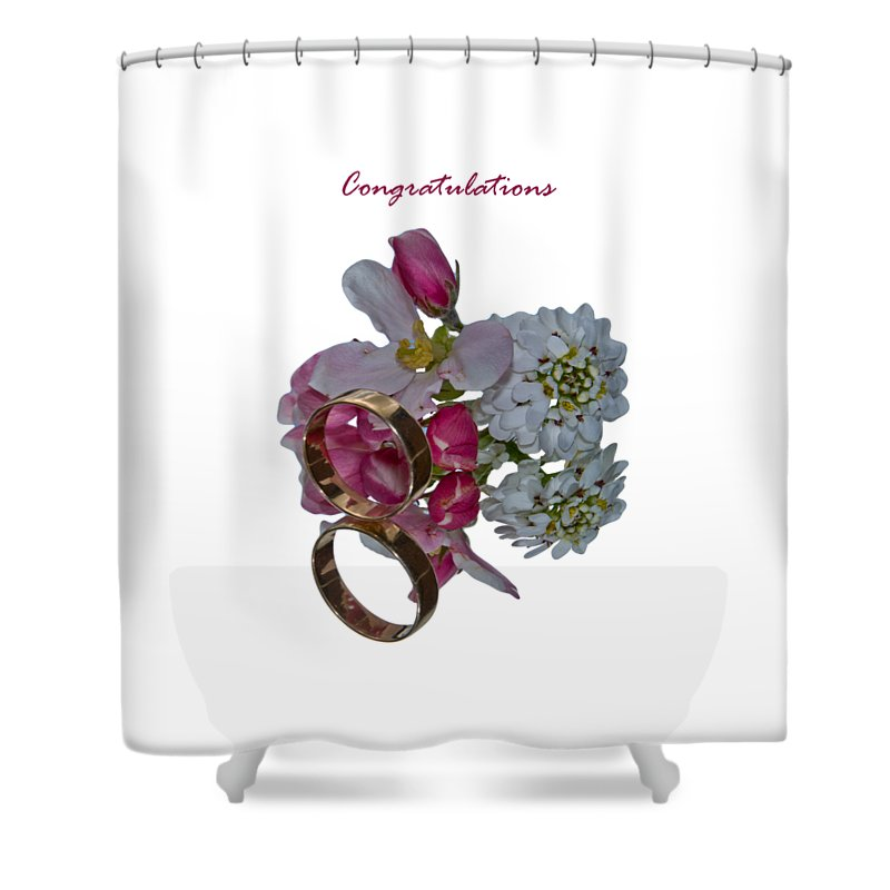 Congratulation Cards Shower Curtain featuring the photograph Congratulation Cards by Dave Byrne