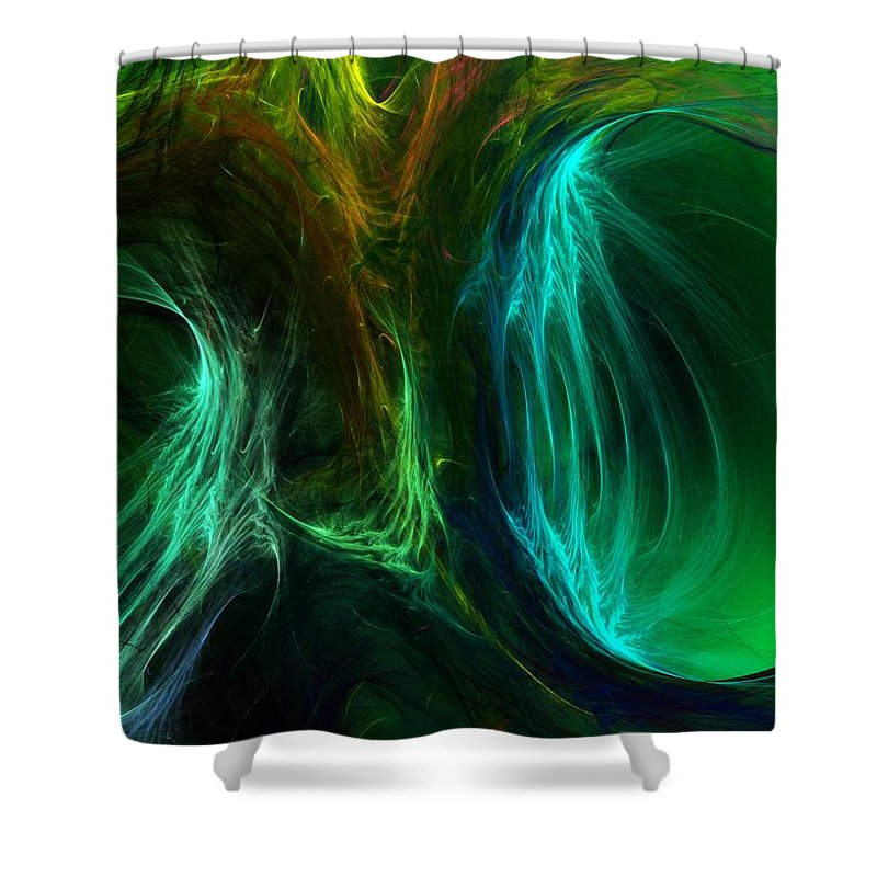 Digital Painting Shower Curtain featuring the digital art Congress by David Lane