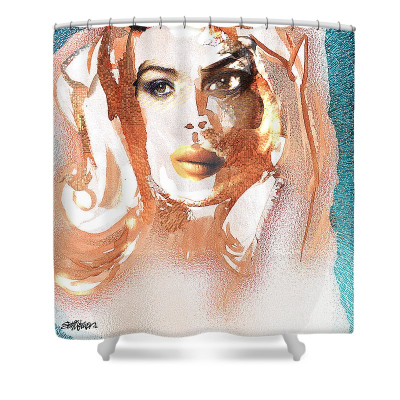 Conjure Shower Curtain featuring the digital art Conjure by Seth Weaver