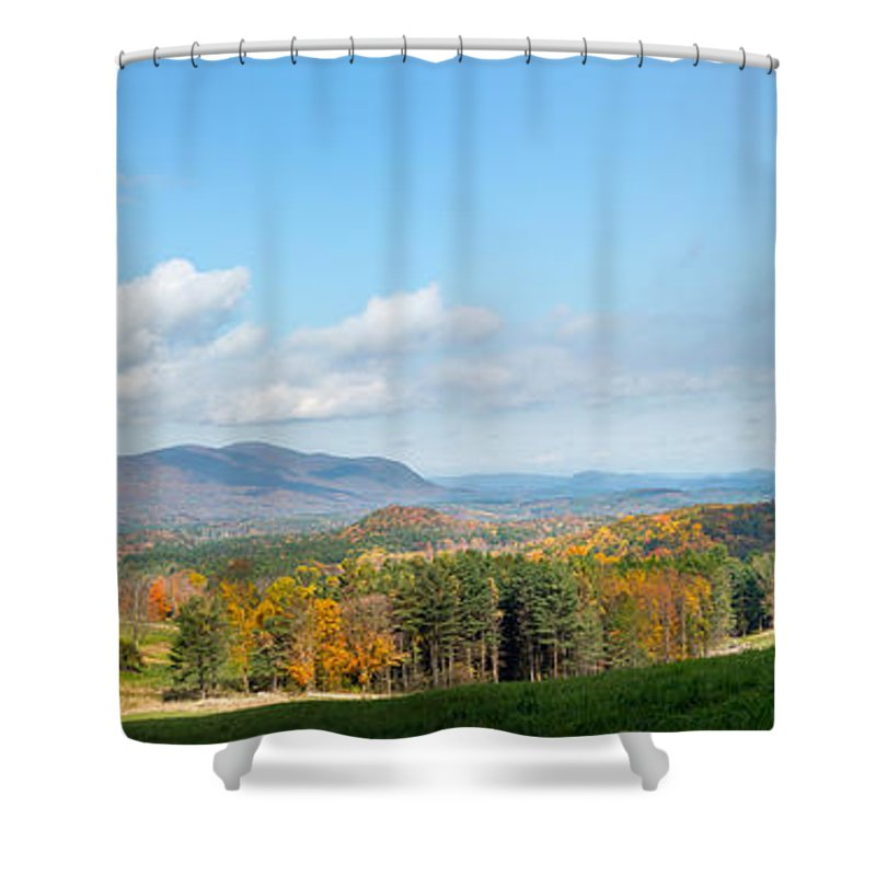 Appalachian Trail Shower Curtain featuring the photograph Connecticut Scenic Vista by Bill Wakeley