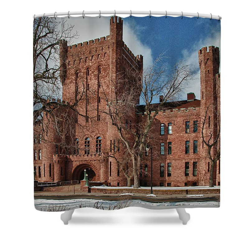 Armory Shower Curtain featuring the photograph Connecticut Street Armory 3997a by Guy Whiteley