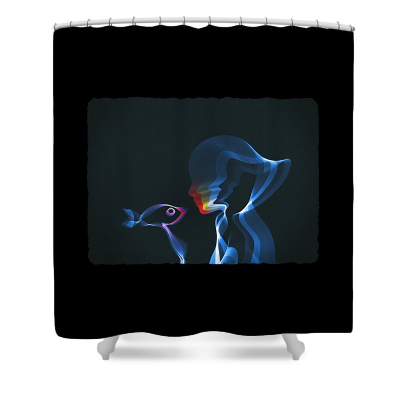 Waves Shower Curtain featuring the digital art Connection by Mustafa Akgul