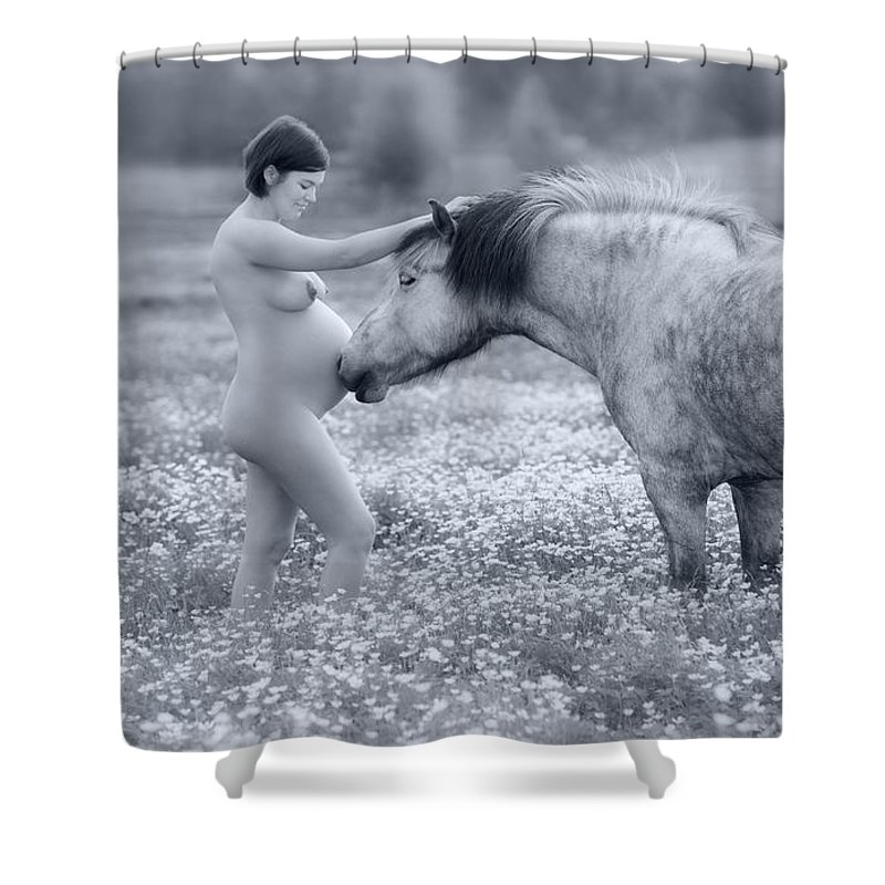 Iceland Shower Curtain featuring the photograph Connection by Sigthor Markusson