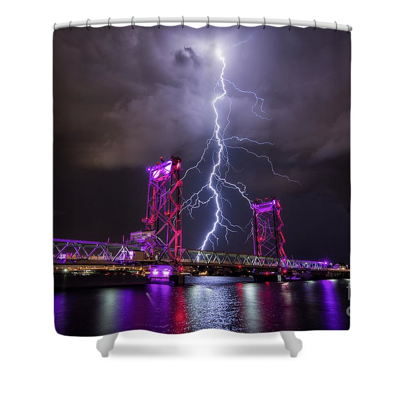 Portsmouth Nh Shower Curtain featuring the photograph Connectivity by Scott Thorp