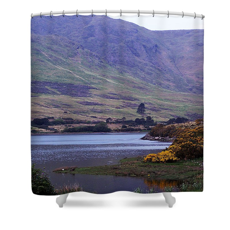 Landscape Shower Curtain featuring the photograph Connemara Leenane Ireland by Teresa Mucha