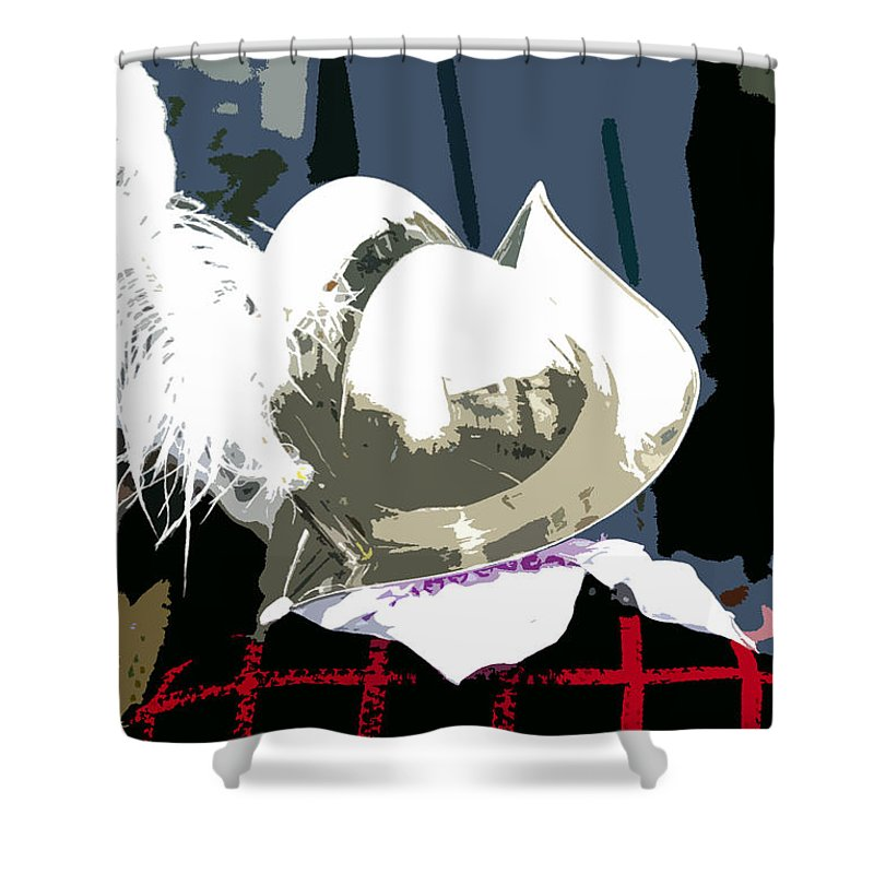 Conquistador Shower Curtain featuring the painting Conquistador by David Lee Thompson