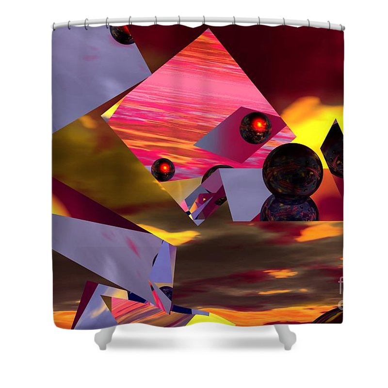 Shower Curtain featuring the digital art Contemplating The Multiverse. by David Lane