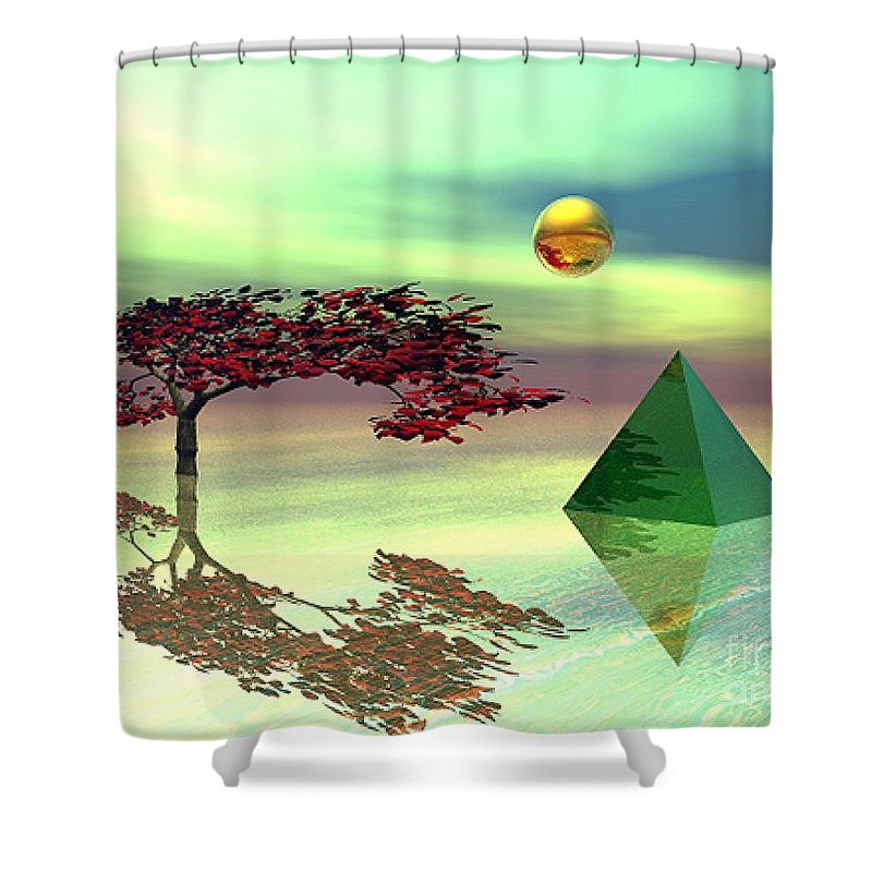 Fantasy Shower Curtain featuring the digital art Contemplative by Oscar Basurto Carbonell