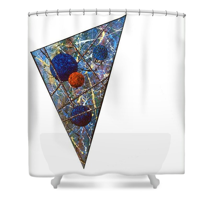 Abstract Shower Curtain featuring the painting Continuum 3 by Micah Guenther