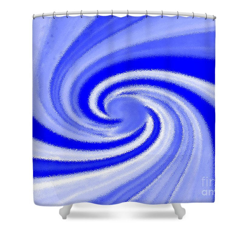 Contrail Shower Curtain featuring the digital art Contrail by David Lee Thompson