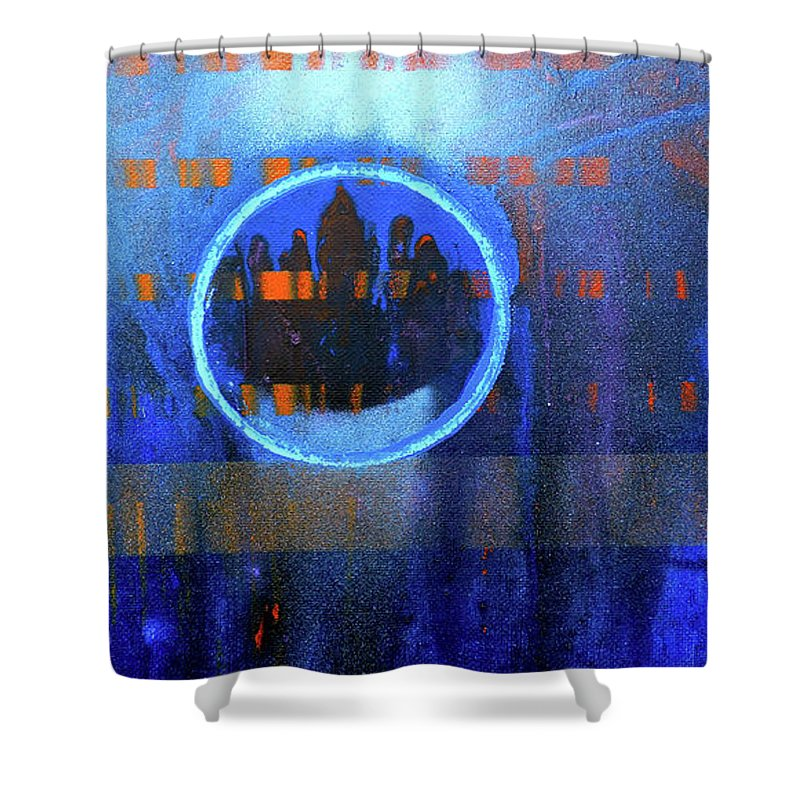Heacock Shower Curtain featuring the painting Contrast Ring 2 by Ryan Heacock
