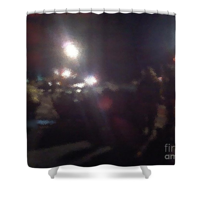 Firefighting Shower Curtain featuring the photograph Controlled Chaos by Tim Lent