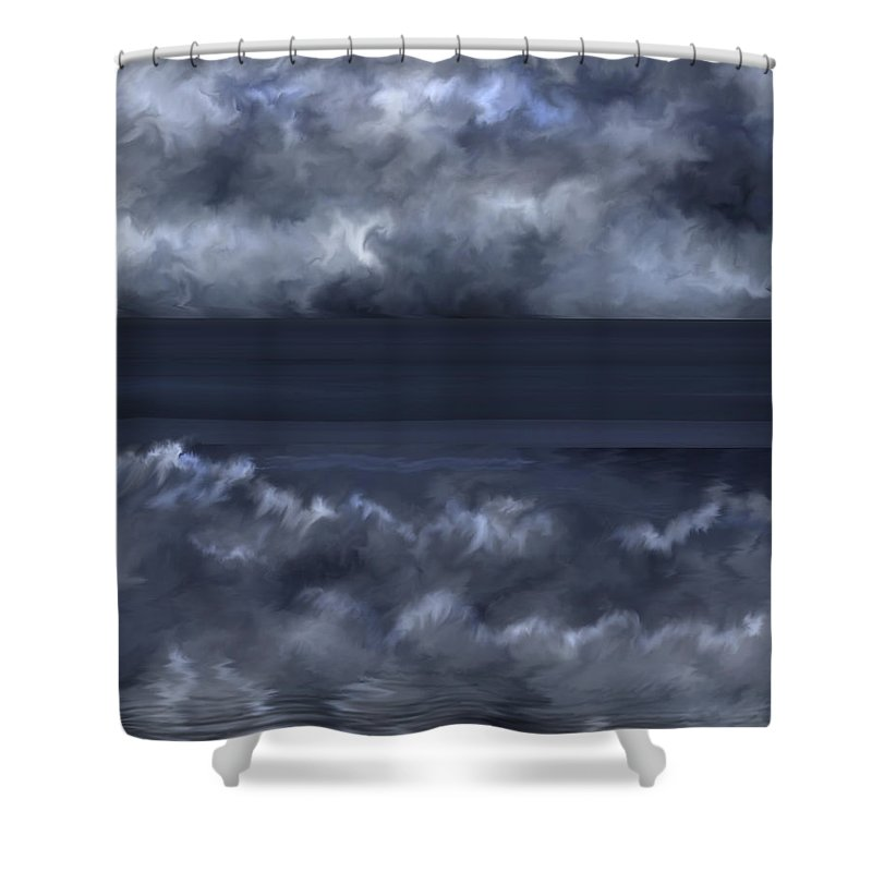 Seascape Shower Curtain featuring the painting Convergence Zone by Anne Norskog