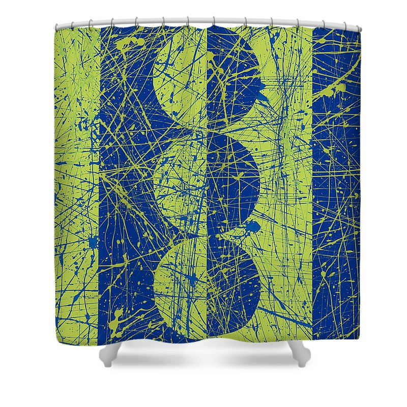 Synesthetic Painting Made Based On A Dream Conversation With Jackson Pollock Shower Curtain Featuring The