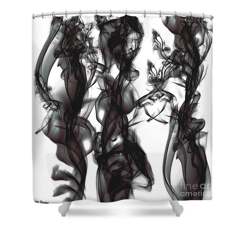 Clay Shower Curtain featuring the digital art Conversations by Clayton Bruster