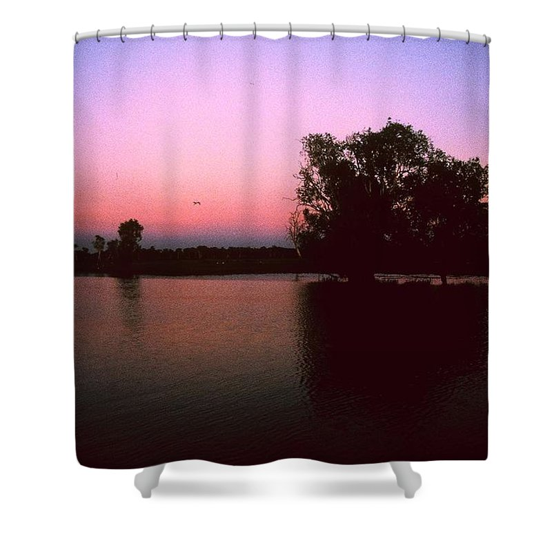 Billybong Shower Curtain featuring the photograph Cooinda Sunrise by Gary Wonning