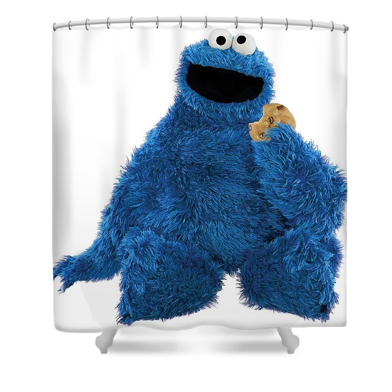 Cookie Monster Shower Curtain Featuring The Photograph By Sesame Street
