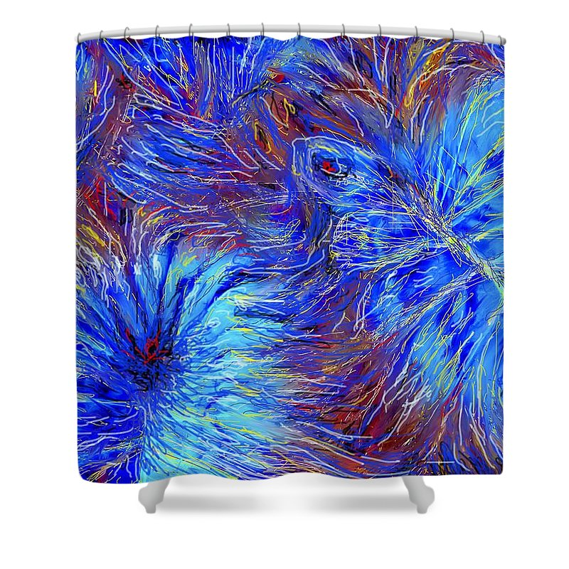 Blue Shower Curtain featuring the photograph Cool Blue by Ian MacDonald