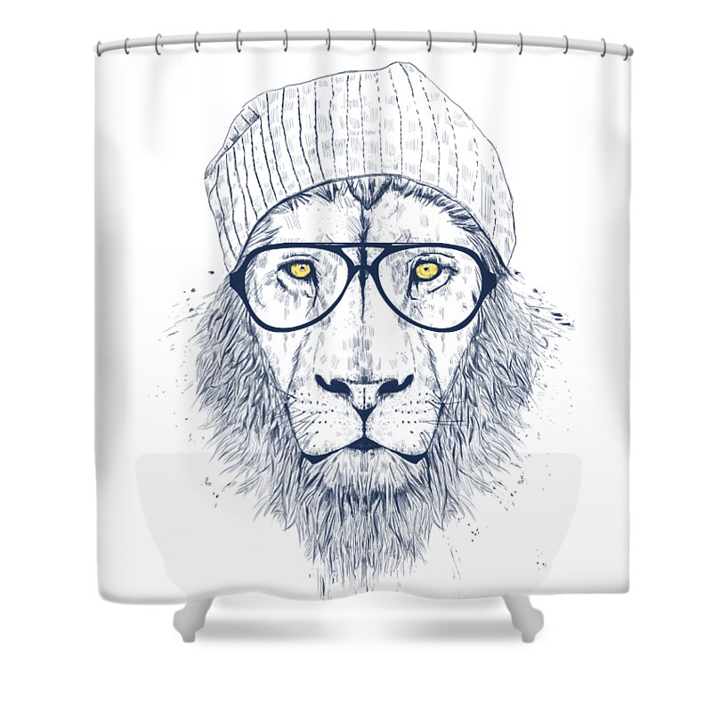 Cool Lion Shower Curtain For Sale By Balazs Solti