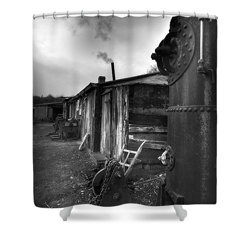 Shack Shower Curtain featuring the photograph Cool Shack by Bob Kemp