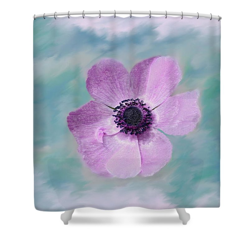 Flowers Floral Macro Nature Gardens Pink Purple Blue Green White Petals Spring Flowers Shower Curtain featuring the photograph Cool Spring by Linda Sannuti