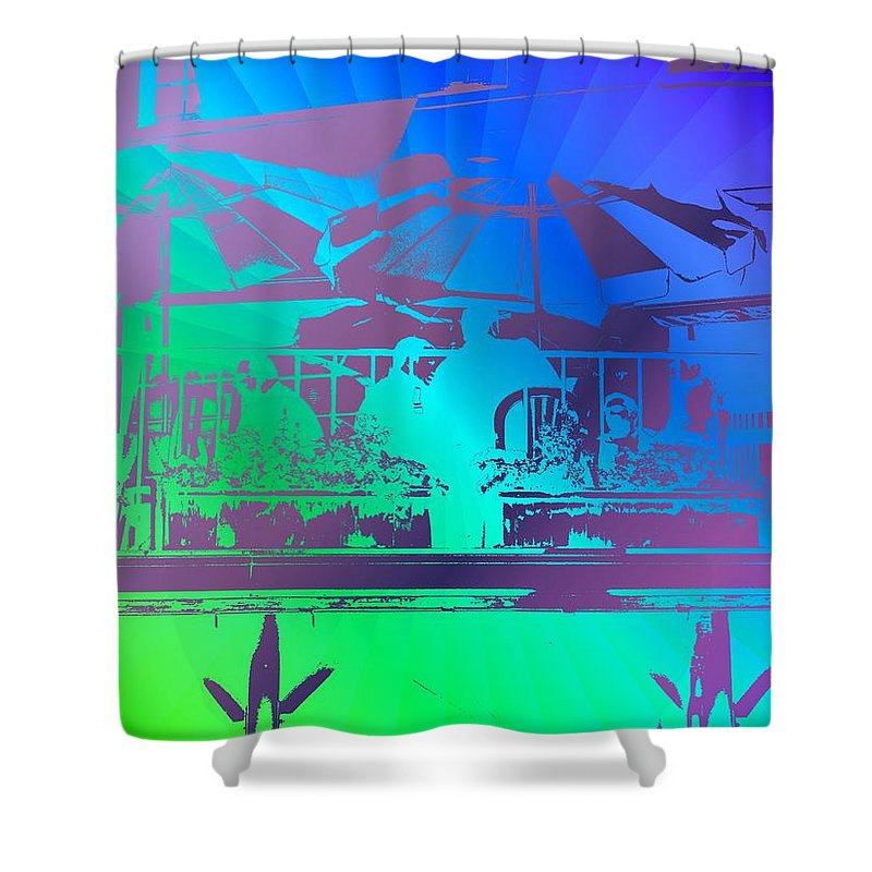 Seattle Shower Curtain featuring the photograph Copacabana by Tim Allen