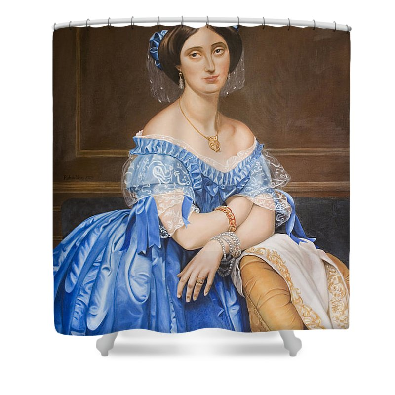 Ingres Shower Curtain featuring the painting Copy After Ingres by Rob De Vries