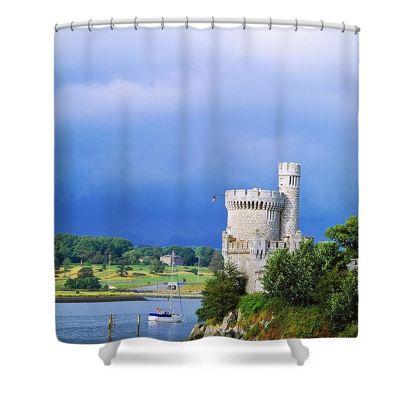 Attraction Shower Curtain featuring the photograph Cork City, Blackrock Castle by The Irish Image Collection