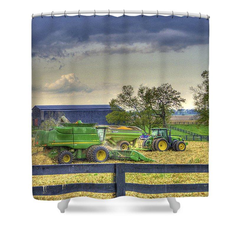 Farmlife Shower Curtain featuring the photograph Corn Harst No2 by Sam Davis Johnson