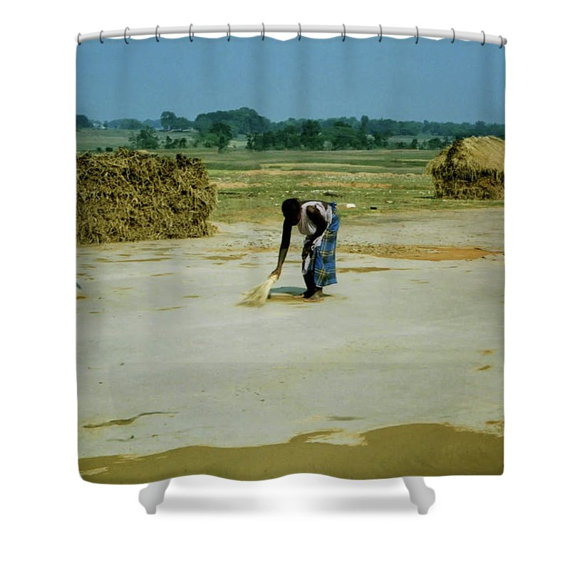 Corn Shower Curtain featuring the photograph Corn Processing by Ujjwal Rout