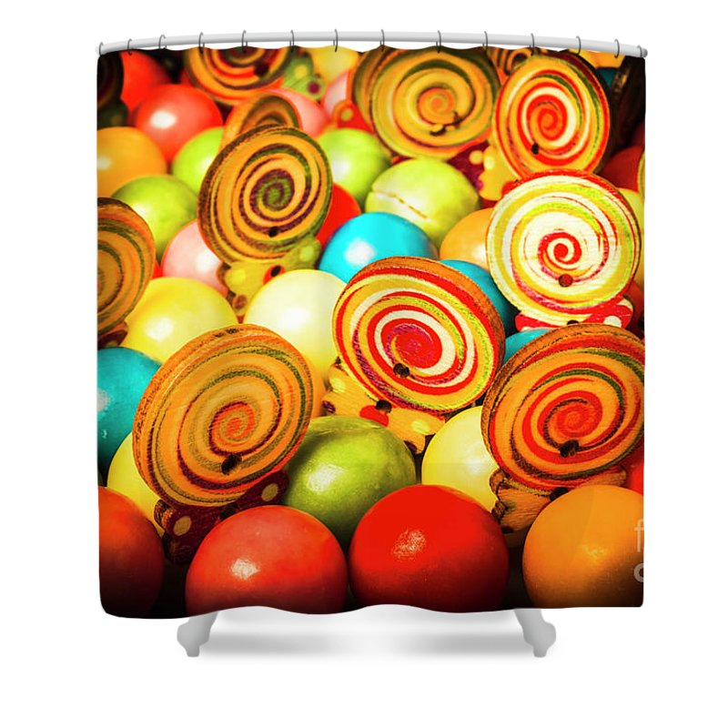 Colourful Shower Curtain featuring the photograph Corner Store Candies by Jorgo Photography - Wall Art Gallery