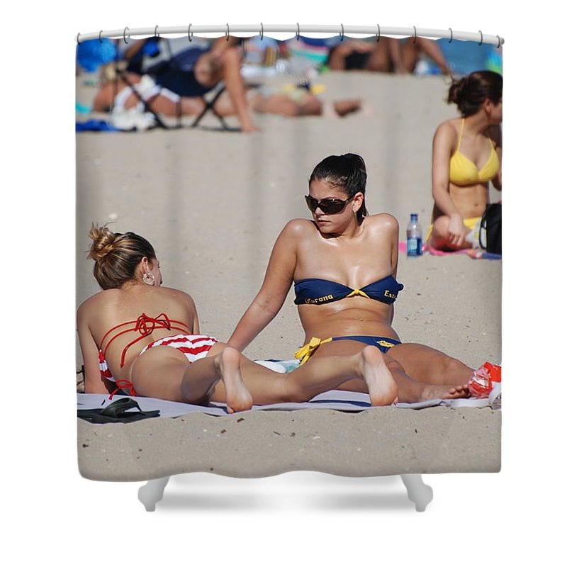 Girls Shower Curtain featuring the photograph Corona Strips by Rob Hans
