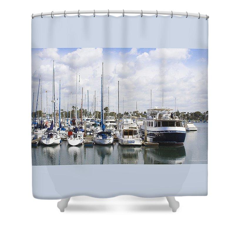 Coronado Shower Curtain featuring the photograph Coronado Boats II by Margie Wildblood