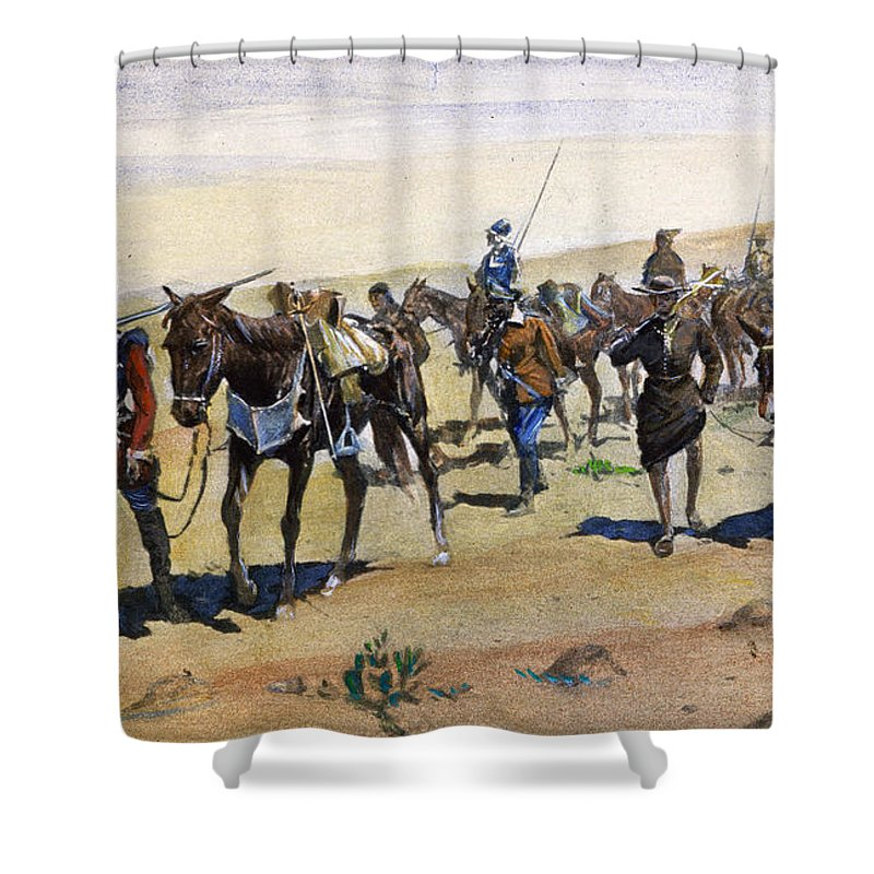 1540 Shower Curtain featuring the painting Coronados March, 1540 by Granger