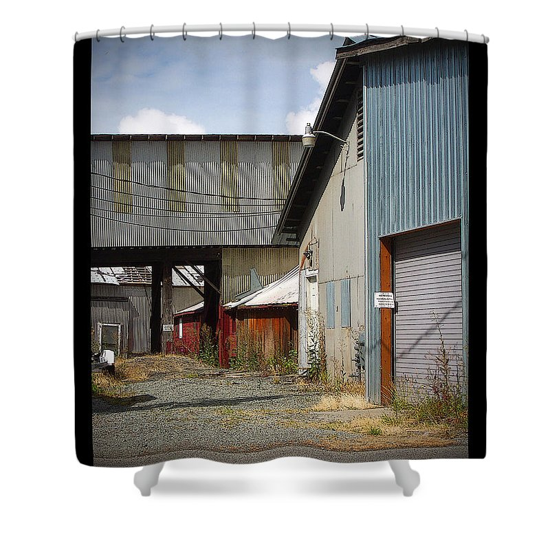Corrugated Shower Curtain featuring the photograph Corrugated by Tim Nyberg