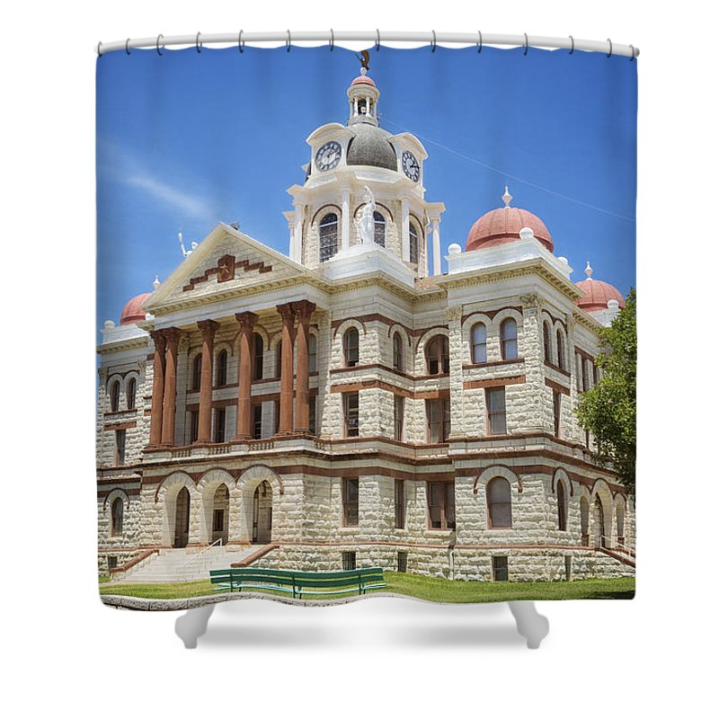 Joan Carroll Shower Curtain featuring the photograph Coryell County Courthouse by Joan Carroll