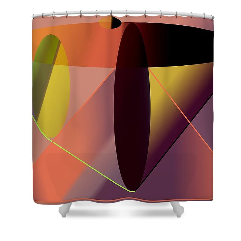 Cosmic Shower Curtain featuring the digital art Cosmic Lifecircuits by Helmut Rottler
