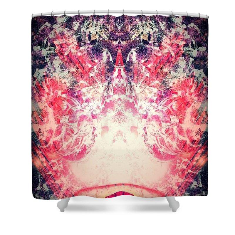 Digital Art Shower Curtain featuring the digital art Cosmic by Shubham Kumar