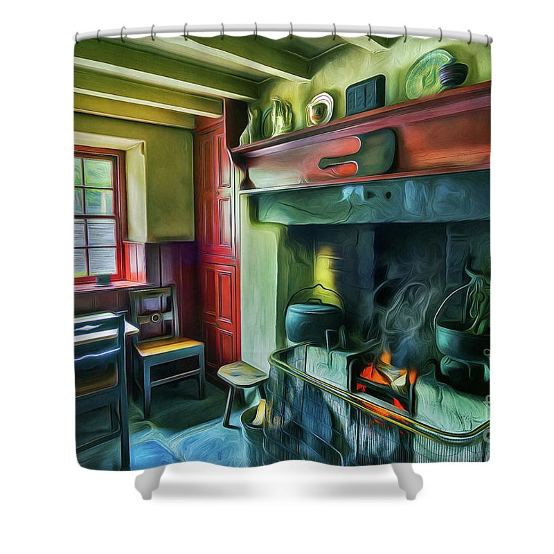 Fireplace Shower Curtains