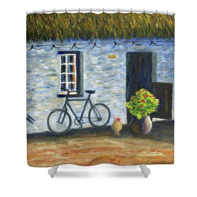 Cottage Shower Curtain featuring the painting Cottage Life by Stan Sweeney