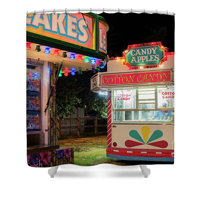 Advertisement Shower Curtain featuring the photograph Cotton Candy by Juli Scalzi