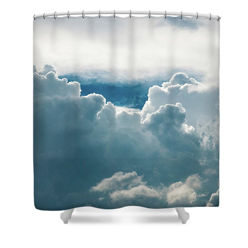Clouds Shower Curtain featuring the photograph Cotton Clouds by Marc Wieland