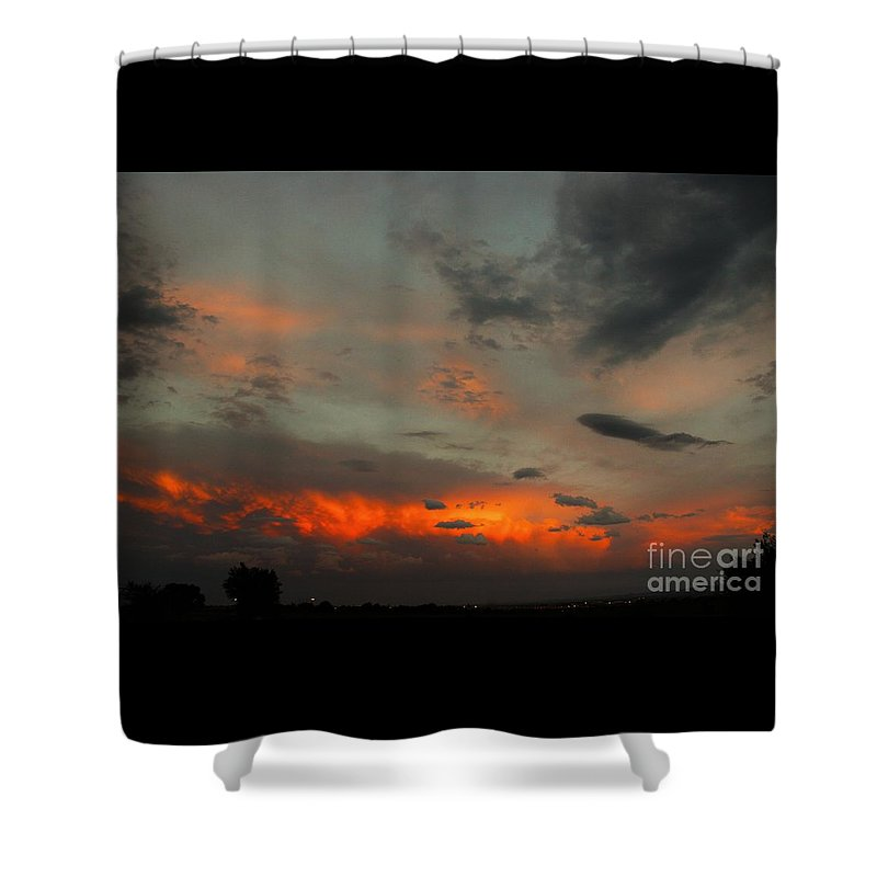 Clouds And Sky Shower Curtain featuring the photograph Couds by Timothy Sanford