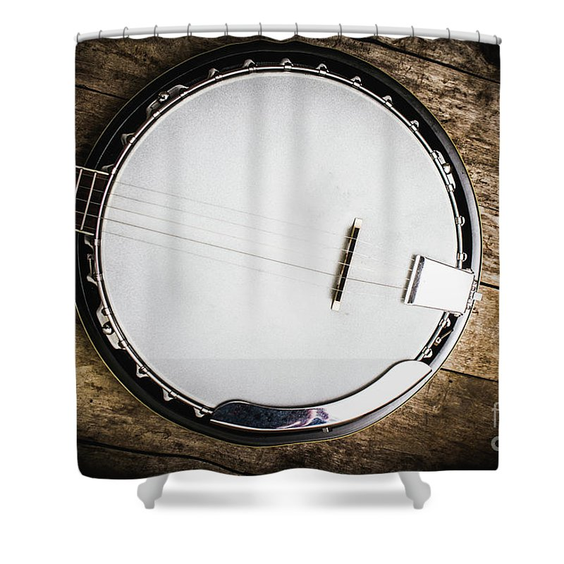 Acoustic Shower Curtain featuring the photograph Country And Western Songs by Jorgo Photography - Wall Art Gallery