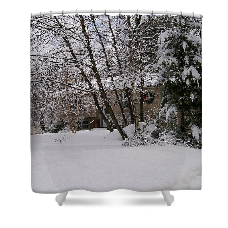 Photography Shower Curtain featuring the photograph Country Christmas by Barbara S Nickerson