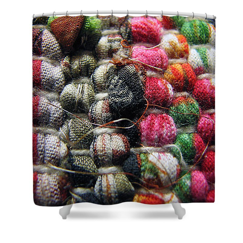 Macro Shower Curtain featuring the photograph Country Colors by Joanne Coyle