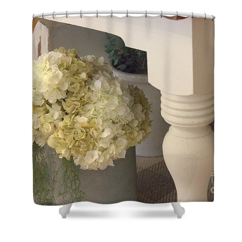 Flowers Shower Curtain featuring the photograph Country Decor by Paulette Thomas