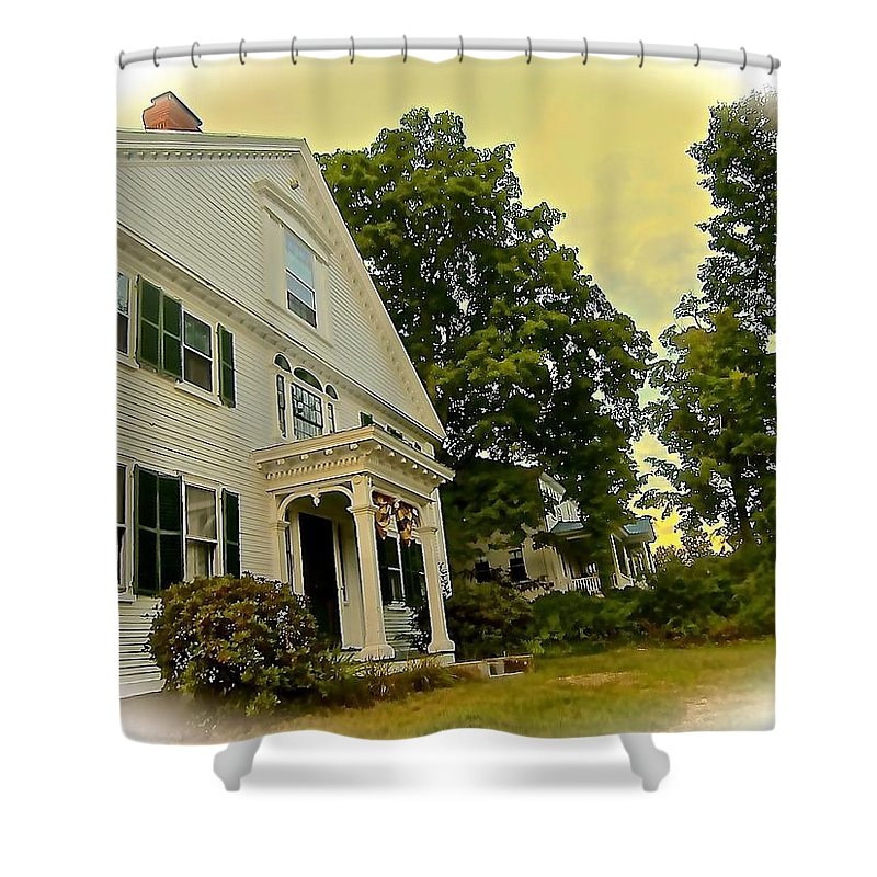 Country Homes Shower Curtain featuring the photograph Country Elegance by Elizabeth Tillar
