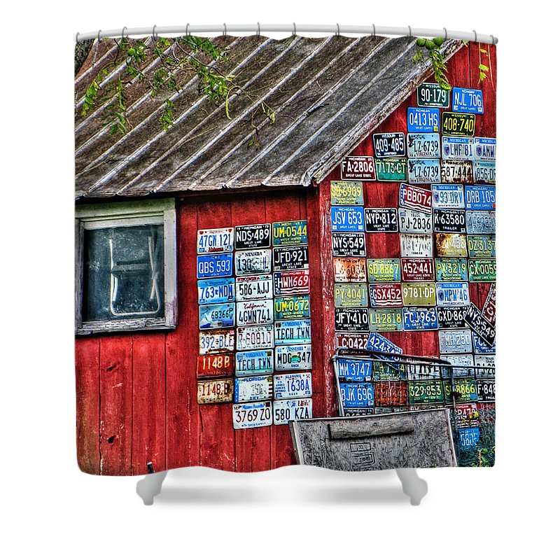 Country Shower Curtain featuring the photograph Country Graffiti by September Stone