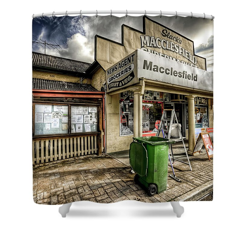 Grocer Shower Curtain featuring the photograph Country Grocer by Wayne Sherriff